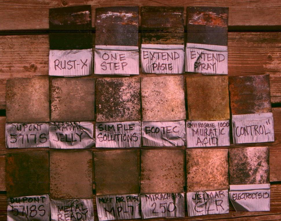 Chemical Rust Treatment Comparisons